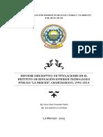 Informe Titulaciones 1992-2014