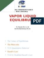 Vapor Liquid Equilibrium