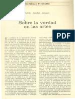 Adolfo-Sanchez-Vazquez Sobre La Verdad en Las Artes