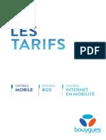 Guide Des Tarifs