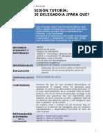 Formato de Sesion de Toe Para Eleccion Del Delegado de Aula 2015
