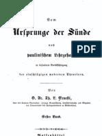 Fr. Ernesti, Vom Ursprung der Sünde nach paulinischem Lehrgehalte, Wolfenbüttel 1855