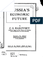 Rakovsky, Russia's Economic Future