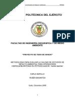 Metodologia Ambiental en El Campo Sacha