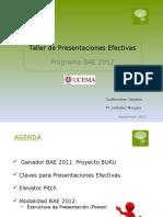 Taller de Presentaciones Efectivas 2012