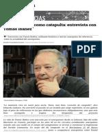 El anarquismo como catapulta- entrevista con Tomás Ibáñez