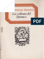 Maravall, Jose Antonio - La Cultura Del Barroco. Ed. Ariel