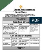 3rd Grade Recognition Plan