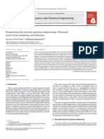 Perspectives for Process Systems Engineering