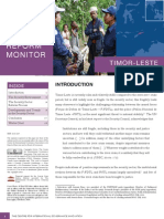 Security Sector Reform Monitor May 2010 East Timor