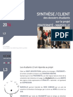 presentation synthese dossiers l3 fraternite-marseille-2016