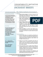 Panchayat Briefs Vol 1, No 1
