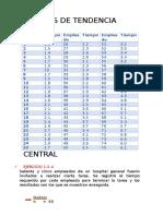 Medidas de Tendencia Central Primera Unidad