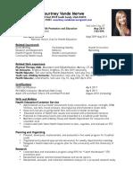 vandemerwe resume