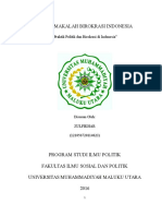 Praktik Politik Dan Birokrasi Di Indonesia_makalah