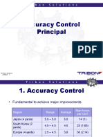 Accuracy Principles Tribon