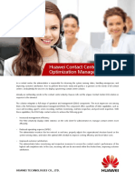 Huawei Contact Center Performance Optimization Management Datasheet