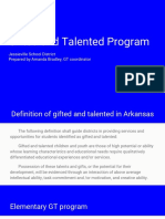 gt program overview
