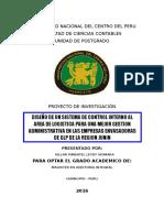 Implementacion y Diseño de Un Sistema Logistico de Planificacion de Inventarios en La Cooperativa