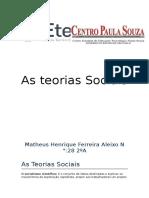 As Teorias Sociais
