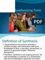 Synthesizing Texts