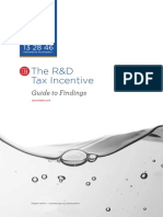 R&D Research and Development Tax Incentive Guide to Findings PDF 2016
