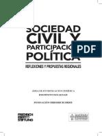 Sociedad civil y participación ciudadana
