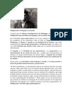 Wittgenstein El Lenguaje y El Mundo