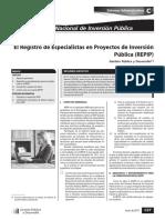 Registro de Especialistas en Inversion Publica