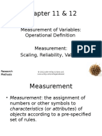 SESI 9 Measurement Variable, Scaling, Reliability and Validity