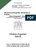 Sala II Etnografie Oravita