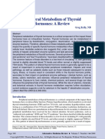 Peripheral Metabolism of Thyroid Hormones