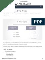 c programming data types