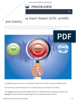 c programming input output  i o   printf   and scanf