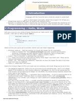 c programming tutorial  introduction