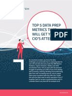 Top 5 Data Prep Metrics That Will Get Your Cio's Attention