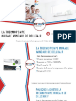 Comparer 3 Prix Thermopompes - Windair par Deluxair (thermopompe murale)