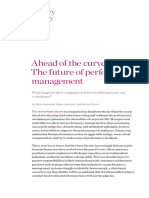Ahead of the Curve the Future of Performance Management