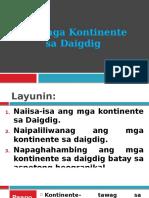 Ang Mga Kontinente Sa Daigdig