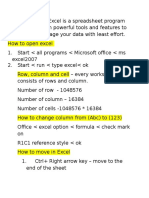 excel theory