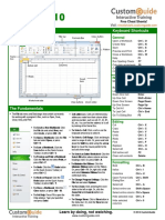 Excel 2010 Cheat Sheet