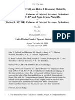 Oscar K. Diamond and Helen J. Diamond v. Walter R. Sturr, Collector of Internal Revenue, Charles Bruen and Anna Bruen v. Walter R. Sturr, Collector of Internal Revenue, 221 F.2d 264, 2d Cir. (1955)
