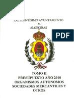 Presupuestos Generales 2010 TOMO II