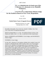 George E. Farrell, as Administrator De Bonis Non of the Estate of Wyand F. Doerner, Jr., Deceased, Plaintiffs-Petitioners v. The Honorable Inzer B. Wyatt, United States District Judge for the Southern District of New York, 408 F.2d 662, 2d Cir. (1969)