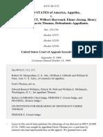 United States v. Charles T. Bennett, Wilbert Haywood, Elmer Jessup, Henry Stanton and Farris Thomas, 415 F.2d 1113, 2d Cir. (1969)