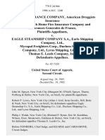 Puritan Insurance Company, American Druggists Insurance Company, Utah Home Fire Insurance Company and Assurances Generales De France v. Eagle Steamship Company S.A., Earle Shipping Company, Ltd., Myrapal Freighters Corp., Duchess Shipping Company, Ltd., Lyras Shipping, Ltd. And Thomas E. Leeds Company, Inc., 779 F.2d 866, 2d Cir. (1985)