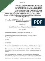 Teresa Linehan, Patricia Linehan, and John G. Linehan v. Cornelius Keefe, Frank Grossman, and Edward Fox, 99 F.3d 401, 2d Cir. (1995)