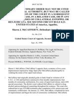 United States v. Shawn J. McCafferty, 104 F.3d 350, 2d Cir. (1996)