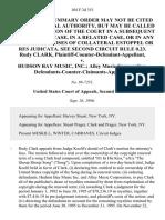 Rudy Clark, Plaintiff-Counter-Defendant-Appellant v. Hudson Bay Music, Inc. Alley Music Corporation, Defendants-Counter-Claimants-Appellees, 104 F.3d 351, 2d Cir. (1996)