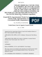 Jose Matos, Rafael Diaz v. Frank Irvin, Superintendent, Wende Correctional Facility Charles Scully, Superintendent, Greenhaven Correctional Facility, 104 F.3d 353, 2d Cir. (1996)